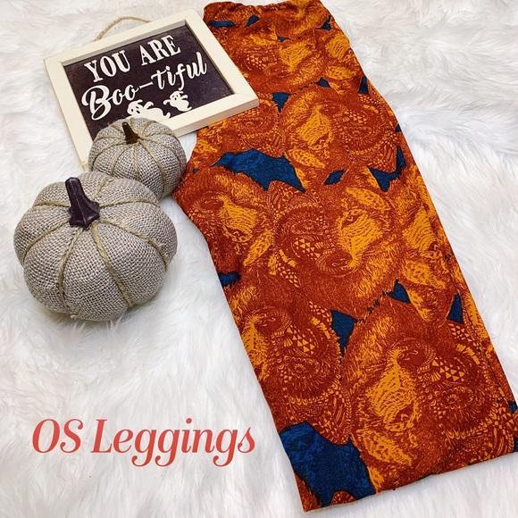 LuLaRoe Pants - LLR OS Vintage Wolf Leggings BNWT